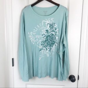 "Sonoma Teal ""The Everyday Tee"" Long Sleeve Top"